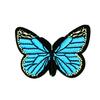 Термоаппликация ТАВ 201 бабочка синяя 8*5,5см фото