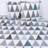 Постельное белье из поплина 28280/1 Треугольники 2-х сп с евро простыней фото