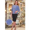 Блузон 1368 асимметрия голубая р 52 фото