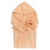 Халат детский махровый с капюшоном персиковый 128-134 см фото