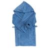 Халат детский махровый с капюшоном василек 128-134 см фото