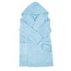 Халат детский махровый с капюшоном голубой 128-134 см фото