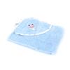 Уголок детский махровый с вышивкой голубой фото