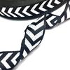 Тесьма черно-белая широкие полосы 2,5см 1 метр фото