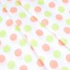 Ткань на отрез бязь плательная 150 см 1718/10 цвет персик-салат фото