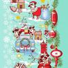 Полотно вафельное 50 см набивное арт 60 Тейково рис 5651 вид 1 Новогоднее путешествие фото