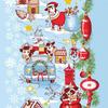 Полотно вафельное 50 см набивное арт 60 Тейково рис 5651 вид 2 Новогоднее путешествие фото