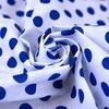 Бязь плательная б/з 150 см 1515А/21 крупный горох цвет василек фото