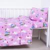 Простынь детская бязь ГОСТ 315/2 Слоники с шариками розовый 110/150 см фото