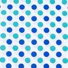 Ткань на отрез бязь плательная 150 см 1718/1 цвет мята-василек фото