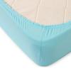 Простыня трикотажная на резинке Премиум М-2065 цвет бирюзовый 120/200/20 см фото