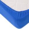 Простыня трикотажная на резинке Премиум М-2067 цвет голубой 120/200/20 см фото
