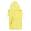 Халат детский вафельный с капюшоном желтый 122-128 см фото