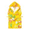 Халат детский вафельный с капюшоном 376/3 желтый 104-116 фото