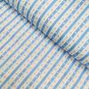 Бязь плательная 150 см 477/3 Звезды на полосе цвет голубой фото