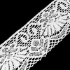 Кружево лен 2208 Белый 10,5см 1 метр фото