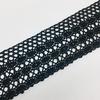 Кружево лен 2203 Черный 4,5см 1 метр фото