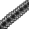 Кружево лен 2200 Черный 2,0см 1 метр фото