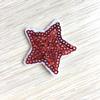 Термоаппликация ТАП В5 звезда, цвет красный 3,5*3,5см фото