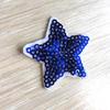 Термоаппликация ТАП В5 звезда, цвет синий 3,5*3,5см фото