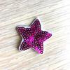 Термоаппликация ТАП В5 звезда, цвет фуксия 3,5*3,5см фото
