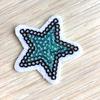 Термоаппликация ТАП В6 звезда бирюзовый 3,5*3,5см фото