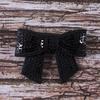 Термоаппликация ТАП С2 бантик черный 4*5см фото
