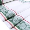 Полотенце полулен 3 шт 50/70 см Жаккард цвет зеленый фото