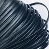 Шнур декоративный кожзам 4 мм 2147 черный фото