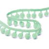 Тесьма с помпонами TBY-ТP-20 ширина 15-20 мм (упак 10 м) цвет F199 зеленый фото