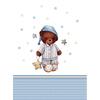 Ткань на отрез перкаль детский 112/150 см 13 Спящий мишка в колпаке фото