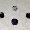 Пуговица ПР64 11мм фиолетовый камень уп 50 шт фото