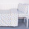 Постельное белье в детскую кроватку из перкаля 5325/1 Мишка на луне с простыней на резинке фото