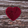 Термоаппликация ТАП 048 сердце красное 6,5*5см фото