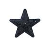 Термоаппликация ТАП 052 звезда черная 9см фото