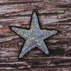 Термоаппликация ТАП 054 звезда серебро 7см фото
