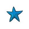 Термоаппликация ТАП 054 звезда синяя 7см фото