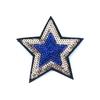 Термоаппликация ТАП 055 звезда фиолетовый-золото 7см фото