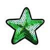 Термоаппликация ТАП 056 звезда зелёная 7,5см фото