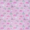 Ткань на отрез интерлок пенье Облачный зайчик розовый R330 фото