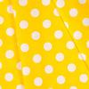 Ткань на отрез бязь плательная 150 см 1422/21 желтый фон белый крупный горох фото