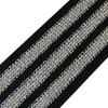 Лампасы №90 черный люрекс серебро полосы 3см 1 метр фото