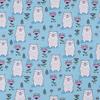 Маломеры футер петля с лайкрой Мишки на голубом 009 0,9 м фото