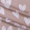 Бязь 120 гр/м2 детская 150 см 7295/34 Сердечки вязаные цвет кофе фото