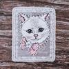 Декоративный элемент пришивной Кошка с цветком 19*23,5 см фото
