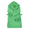 Халат детский махровый с капюшоном зеленый 116-122 см фото