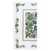 Полотенце полулен 40/80 Цветы цвет зеленый фото