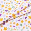 Маломеры бязь плательная 150 см 559/2 Звездочки и лапки цвет сирень 0.9 м фото