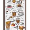 Полотно вафельное 50 см набивное арт 60 Тейково рис 5630 вид 1 Кофемания фото