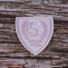 Термоаппликация ТАВ s1508 шеврон бело-розовый 4.8*4,3см фото